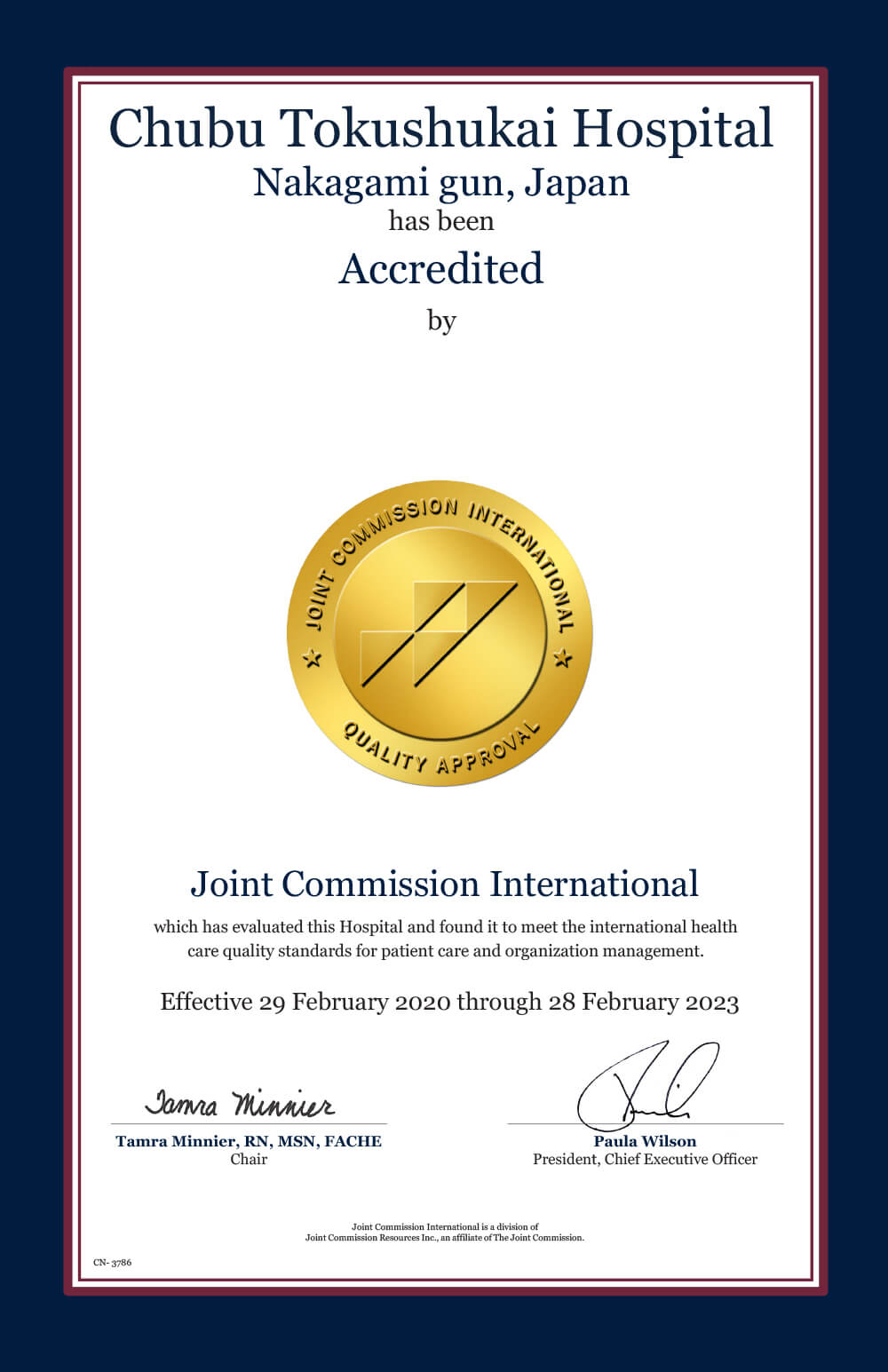 Accredited by JCI